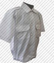 Рубашка форменная белая,  голубая,  черная,  кремовая,  оливковая на корот